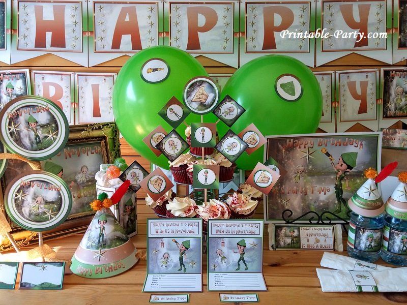 Printable Peter Pan Party Supplies | Neverland Theme Decorations
