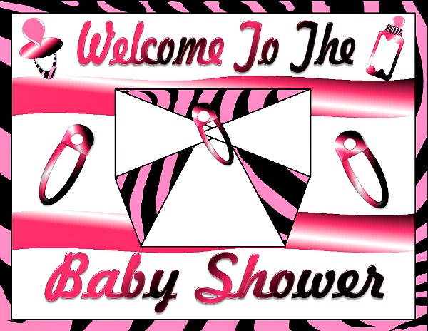 Printable Baby Girl Shower Decorations | Girls Baby Shower ...