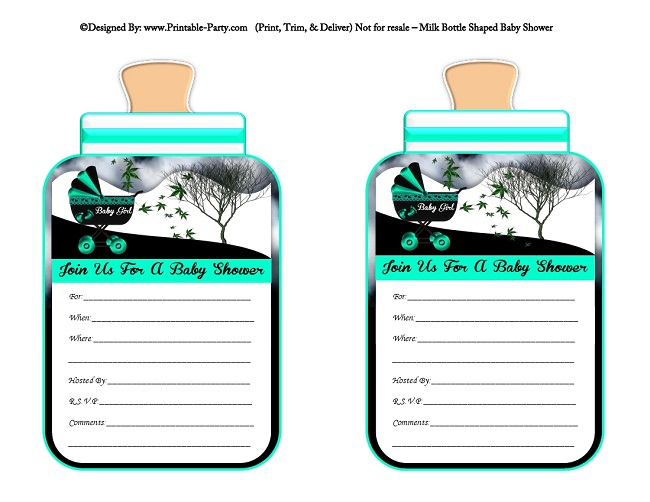 Girl printable bottle baby shower invitations milk bottle shaped girls printable bottle shaped baby shower invites filmwisefo