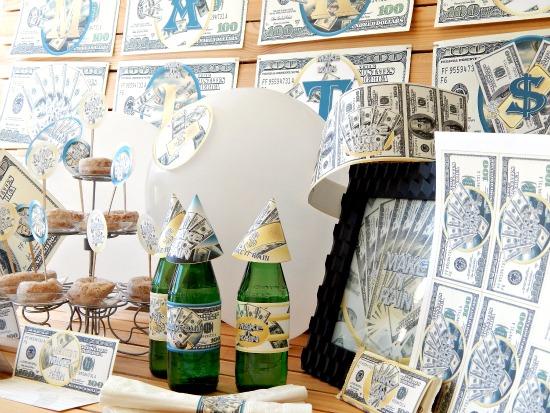 Printable Money Party Supplies Theme Decorations