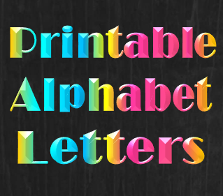 printable birthday banner letters