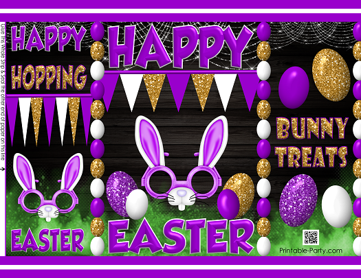 Printable easter cards decorations gift wrapping bags easter bag purple 10 negle Images