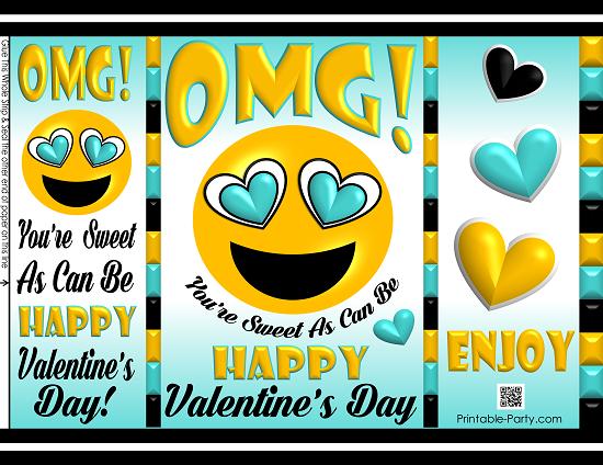 Happy Valentines Day Banner Printable