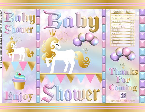Printable Baby Shower Favor Bags Gift Bags Potato Chip