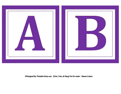 Print out letters for banners hcsclub maxwellsz