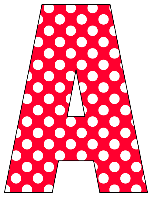 S In Bubble Letters With Polka Dots