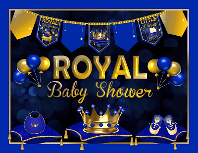this royal prince baby shower decoration pack is printable and would be awesome looking when placed around themed featured party tables u0026 guests areas