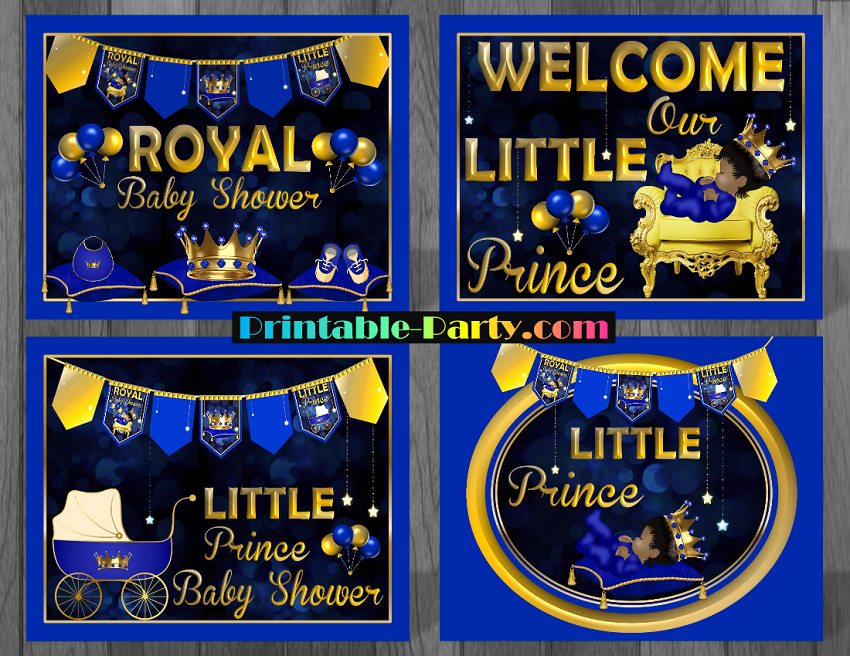 Royal Prince Baby Shower Decorations on office depot labels