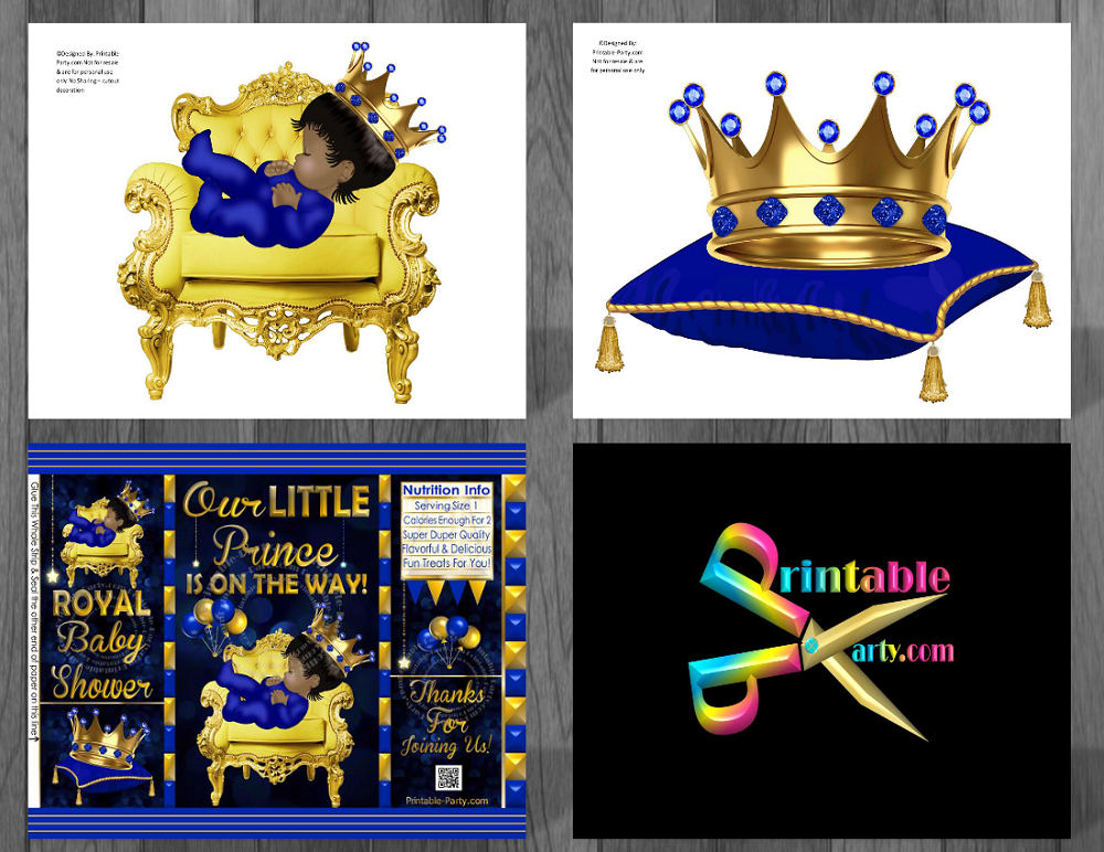 Printable Royal Prince Baby Shower Decorations