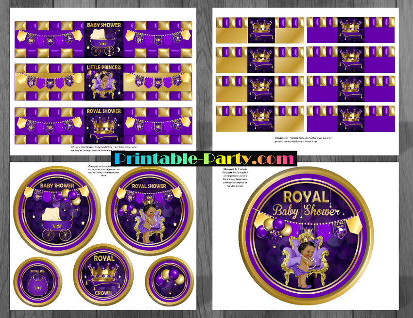 Non Editable PDF File Includes 18 Pages Party Decor + 46 Banner Pages/Decor  + Chip Treat Favor Bag + Instructions: