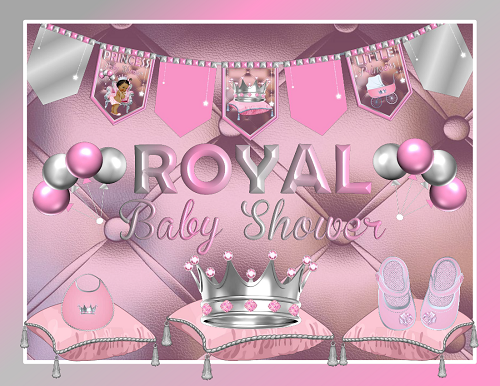This Royal Princess Pink Baby Shower Decoration Pack Is Printable, And  Would Be Awesome Looking When Placed Around Themed Featured Party Tables U0026  Guests ...