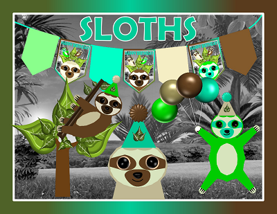 Sloth Birthday Party Decorations
