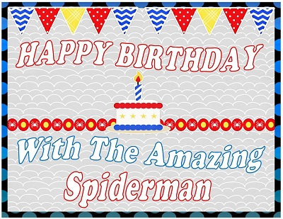 Printable Inspired By Amazing Spiderman Birthday Party