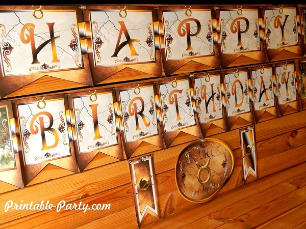 taurus printable zodiac party decorations
