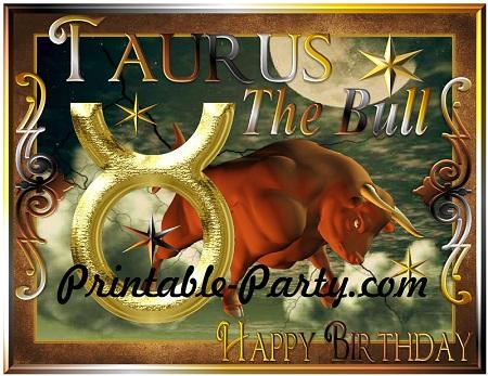 Adult Birthday Party Decorations Taurus Season Birthday Taurus Birthday Banner Birthday Gift for Taurus Zodiac Birthday Banner