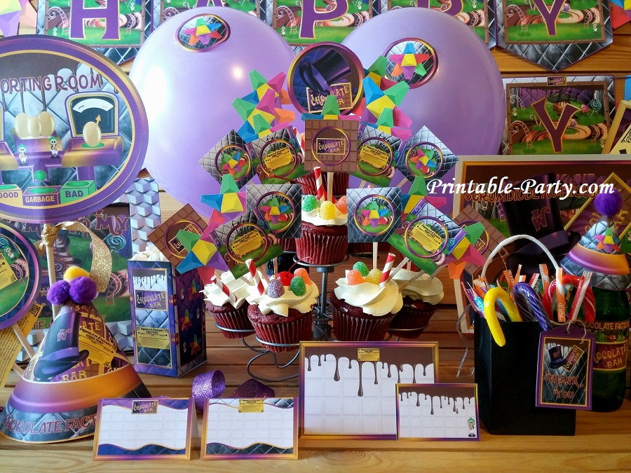 Chocolate Factory Party Supplies Theme