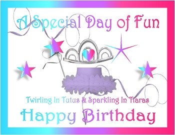 picture relating to Printable Tiaras titled Tutus And Tiaras Printable Social gathering Components Birthday Boy or girl