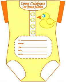 Printable Boy Onesie Baby Shower Invites